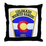 Colorado Mounted Rangers Throw Pillow