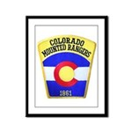 Colorado Mounted Rangers Framed Panel Print