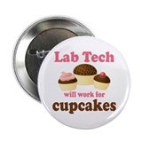 "Lab Tech Cupcake 2.25"" Button"