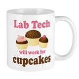 Lab Tech Cupcake Small Mug
