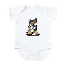 Tri-Color Shiba Inu Infant Bodysuit