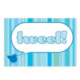 Twitter Stripes Postcards