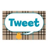 Twitter Plaid Postcards