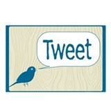 Twitter Woodgrain Postcards