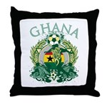 Ghana Soccer Throw Pillow