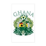 Ghana Soccer Sticker (Rectangle)