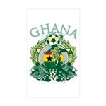 Ghana Soccer Sticker (Rectangle 10 pk)