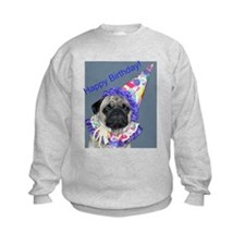 Cute Pug birthday Sweatshirt