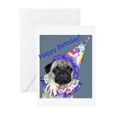 Unique Pug Greeting Card