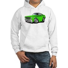 Duster Lime-Black Car Hoodie