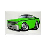 Duster Lime-Black Car Rectangle Magnet