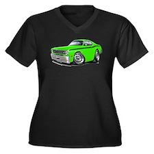 Duster Lime-Black Car Women's Plus Size V-Neck Dar