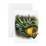 Roaring Dragon Greeting Card