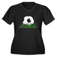 Cute Winner Women's Plus Size V-Neck Dark T-Shirt