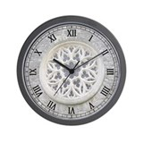 Stone Rose Window Wall Clock