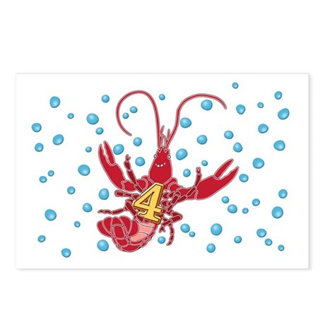 Crawfish Four Postcards (Package of 8)