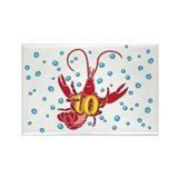 Crawfish Ten Rectangle Magnet (10 pack)