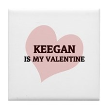 Keegan Is My Valentine Tile Coaster