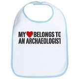 My Heart Belongs To An Archaeologist Bib