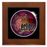 Eclipse Wolf Shadow by twibaby Framed Tile