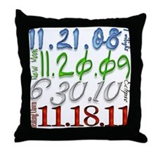Twilight Saga Release Dates D Throw Pillow