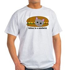 Kitten in a sandwich Ash Grey T-Shirt