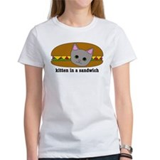 Kitten in a sandwich Tee