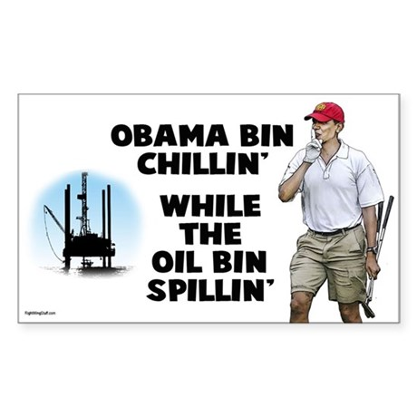 Obama bin chillin' Sticker (Rectangle)