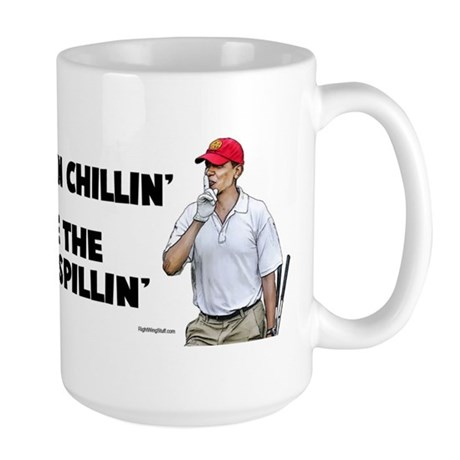 Obama bin chillin' Large Mug