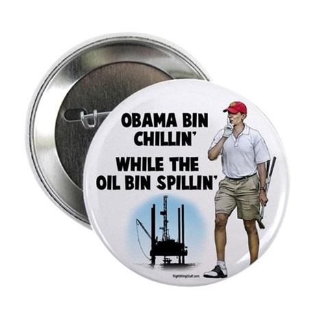 "Obama bin chillin' 2.25"" Button (100 pack)"