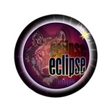"Eclipse Wolf Shadow by twibab 3.5"" Button (10"