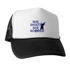 She shoots girls soccer Trucker Hat
