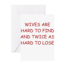 men's divorce joke Greeting Card