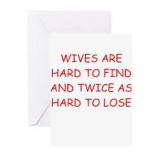 men's divorce joke Greeting Cards (Pk of 10)