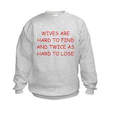 men's divorce joke Sweatshirt