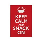 Keep Calm and Snack On Rectangle Magnet (100 pack)