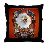 Eagle_Dreamcatcher Throw Pillow
