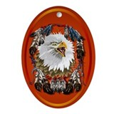 Eagle_Dreamcatcher Ornament (Oval)
