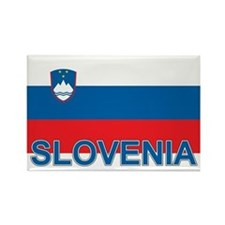 Slovenian Flag (labeled,colors) Rectangle Magnet
