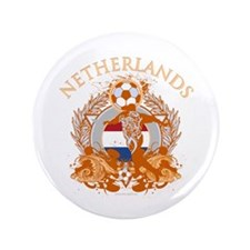 "Netherlands Soccer 3.5"" Button (100 pack)"