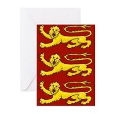 Plantagenet Lions Greeting Cards (Pk of 20)