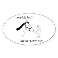 Love My Job Equine Decal