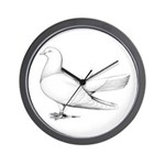 Flying Oriental Roller Pigeon Wall Clock