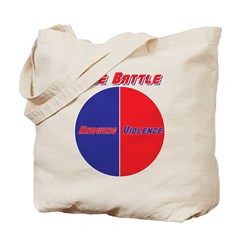 Half The Battle Tote Bag