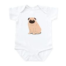 Portly Pug Infant Bodysuit