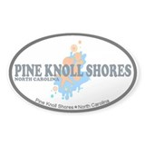 Pine Knoll Shores NC - Seashells Design Decal
