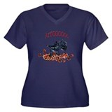 Arroo Scottish Terrier Women's Plus Size V-Neck Da