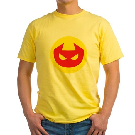 Simple Devil Icon Yellow T-Shirt