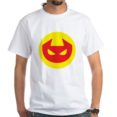 Simple Devil Icon White T-Shirt