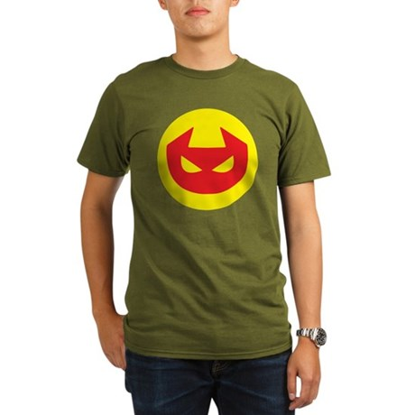 Simple Devil Icon Organic Men's T-Shirt (dark)